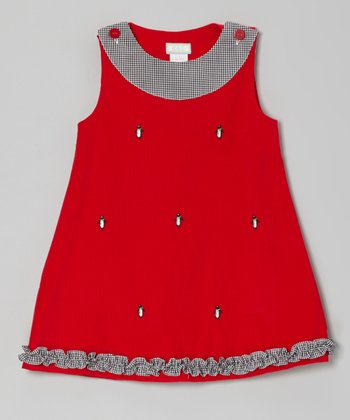 Red Penguin Ruffle Jumper - Infant & Toddler