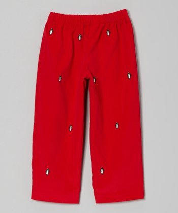 Red Penguin Pants - Infant, Toddler & Girls