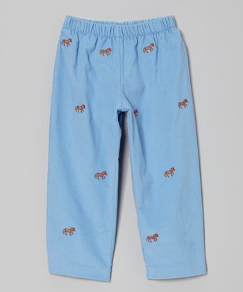 Blue Horse Pants - Infant, Toddler & Girls
