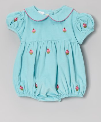 Blue Cupcake Bubble Bodysuit - Infant