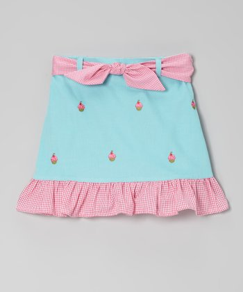 Blue Cupcake Ruffle Skirt - Toddler & Girls