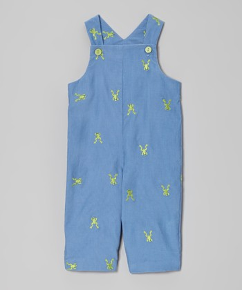 Gray Frog Overalls - Infant & Toddler