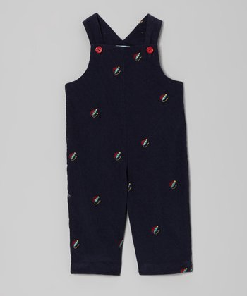 Dark Blue Fishing Lure Overalls - Infant & Toddler