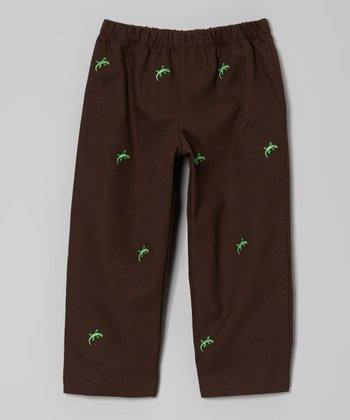 Brown Lizard Pants - Infant, Toddler & Boys
