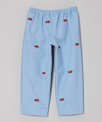 Blue Fire Truck Pants - Infant, Toddler & Boys