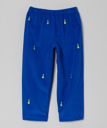 Blue Christmas Tree Pants - Infant, Toddler & Boys