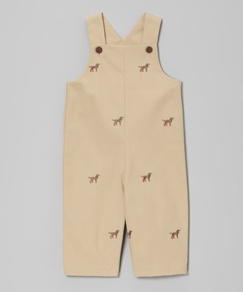 Khaki Labrador Overalls - Infant & Toddler