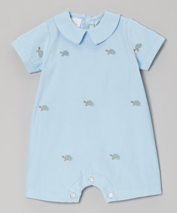 K&L Blue Turtle Romper - Infant