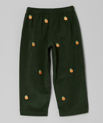 Dark Green Pumpkin Pants - Infant, Toddler & Boys