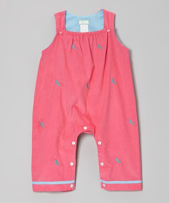 Hot Pink Paisley Overalls - Infant
