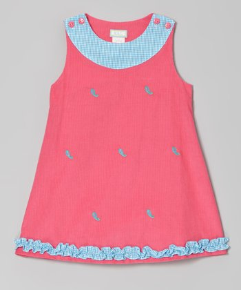 Hot Pink Paisley Ruffle Jumper - Infant, Toddler & Girls
