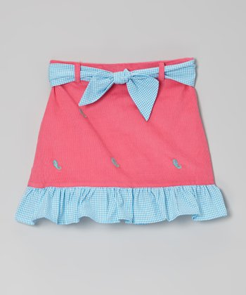 Hot Pink Paisley Ruffle Skirt - Toddler & Girls