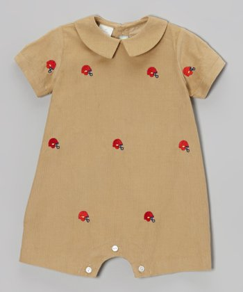 Brown Helmet Romper - Infant