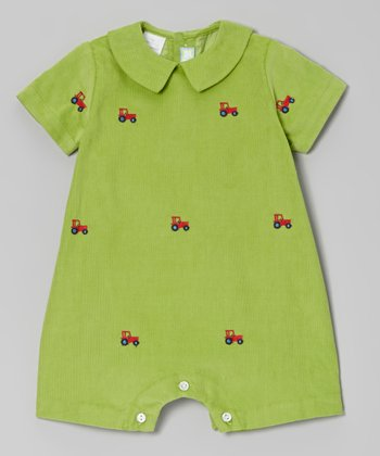 Green Tractor Romper - Infant