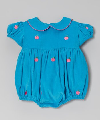 Turquoise Apple Bubble Bodysuit - Infant