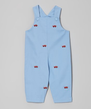Blue Fire Truck Overalls - Infant & Toddler