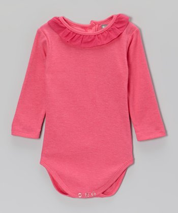 Pink Ruffle Collar Bodysuit - Infant