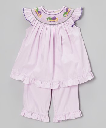 Lavender Jester Smocked Top & Pants - Infant, Toddler & Girls