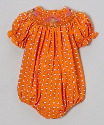 Orange Dot Turkey Bubble Bodysuit - Infant