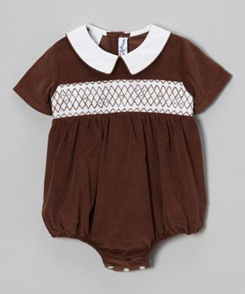 Brown Bubble Bodysuit - Infant