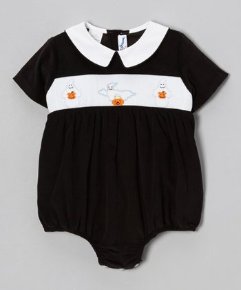 Black Boo Bubble Bodysuit - Infant
