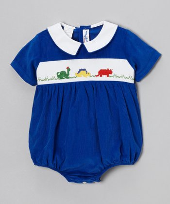 Blue Dinosaur Bubble Bodysuit - Infant