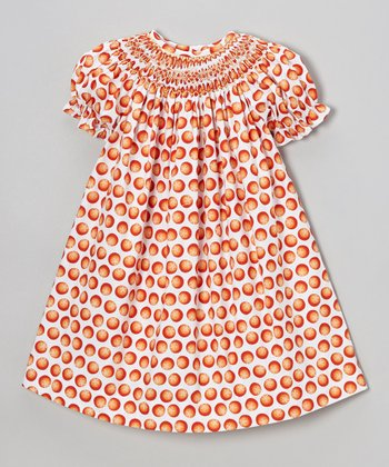 Orange Dot Bishop Dress - Infant & Toddler