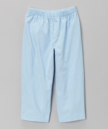 Light Blue Corduroy Pants - Toddler & Girls