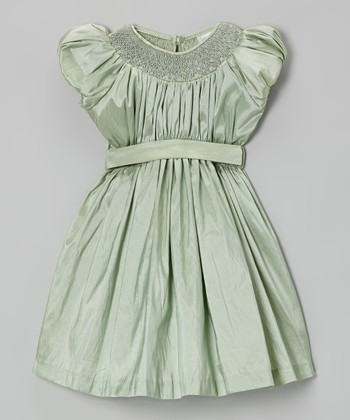 Mint Green Bishop Dress - Toddler & Girls