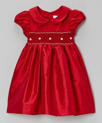 Red Smocked Dress - Infant & Toddler