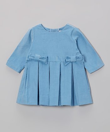Blue Bow Corduroy Dress - Infant & Toddler