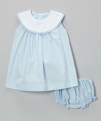 Blue Yoke Dress & Diaper Cover - Infant & Toddler