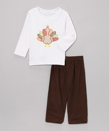 Brown Corduroy Turkey Tee & Pants - Toddler & Boys
