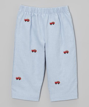 Light Blue Fire Truck Pants - Infant, Toddler & Boys