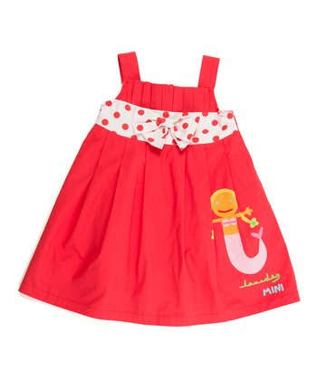 Red Mermaid Bow Dress - Infant, Toddler & Girls