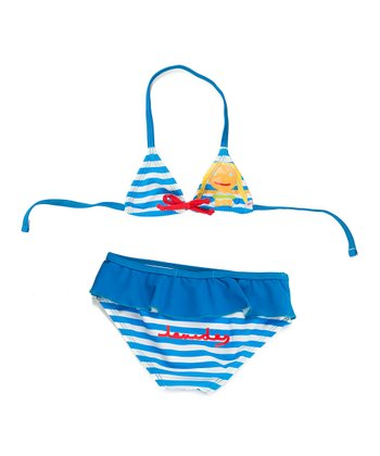 Blue Stripe Mermaid Bikini - Infant, Toddler & Girls