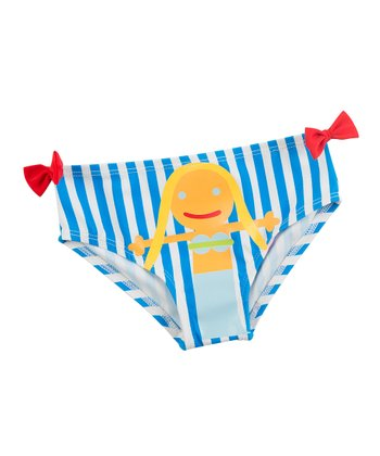 Blue Stripe Mermaid Bikini Bottoms - Infant
