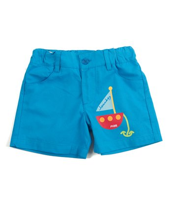 Blue Sailboat Shorts - Infant & Boys