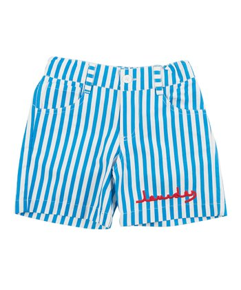 Blue Stripe Fish Shorts - Infant, Toddler & Boys