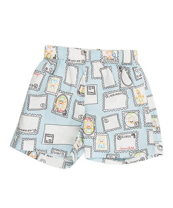 Blue Stamp Shorts - Infant