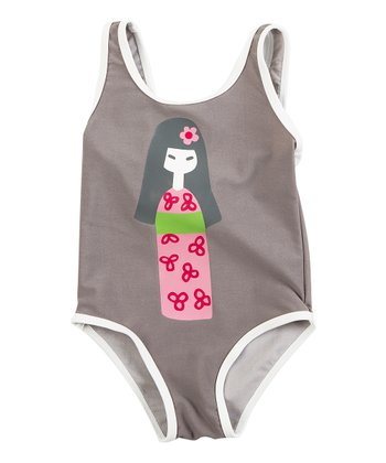 Gray Cherry Blossom One-Piece - Infant