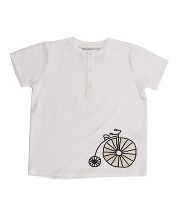 White Voyage Henley - Infant, Toddler & Boys