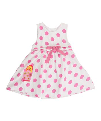 Pink Polka Dot Matrioska Dress - Infant
