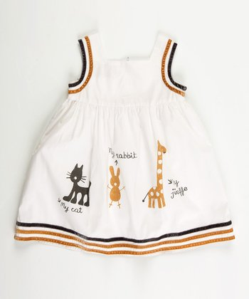 White Jungle Dress - Infant, Toddler & Girls