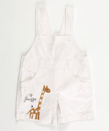 White Jungle Shortalls - Infant, Toddler & Boys