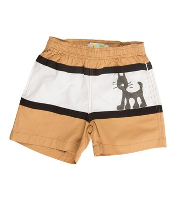 Tan & White Jungle Shorts - Infant & Boys