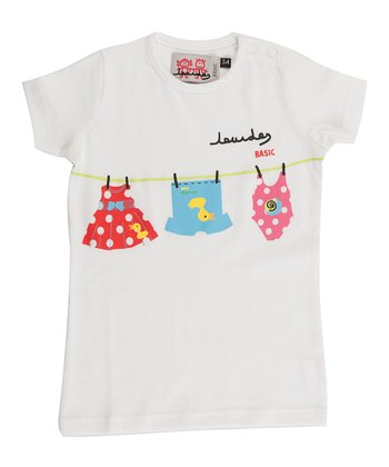 White Clothesline Tee - Infant & Girls