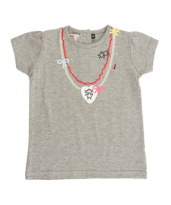 Gray Necklace Tee - Infant, Toddler & Girls