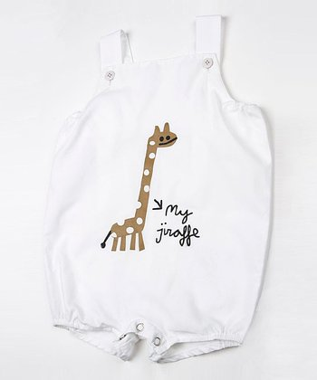 White Jungle Shortalls - Infant