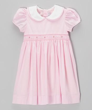 Pink Smocked Cap-Sleeve Dress - Infant & Toddler